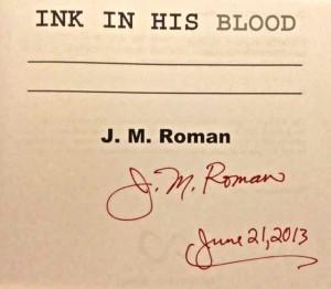John Roman book signed