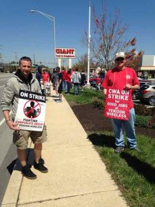 Verizon Springfield Picket Line